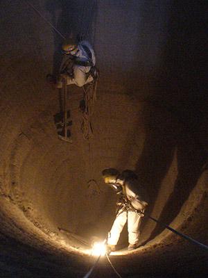 nettoyage de silo